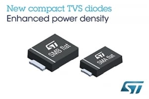 New Transient-Voltage-Suppression Diodes from STMicroelectronics Deliver High Protection in Small Packages