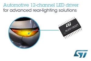 Flexible 12-channel Automotive LED Driver from STMicroelectronics Simplifies State-of-the-Art Lighting