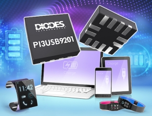 Diodes Incorporated's USB BC 1.2 Compliant Battery Charging Detector Supports Dual Roles to Simplify Host and Client Design
