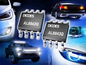 Automotive-Compliant Buck LED Drivers from Diodes Incorporated Provide Simple, Robust Solutions for Internal and Exterior LED Lamps