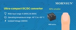 MORNSUN Introduces 1-3W Ultra-compact Dual-output DC/DC Converter