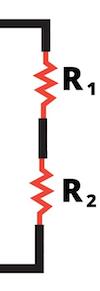 Resistors connected in series.