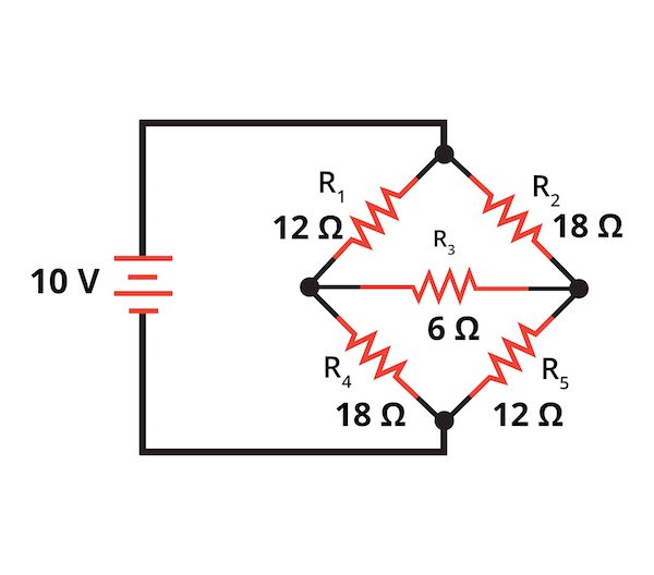 R1, R2, and R3 forming a delta configuration