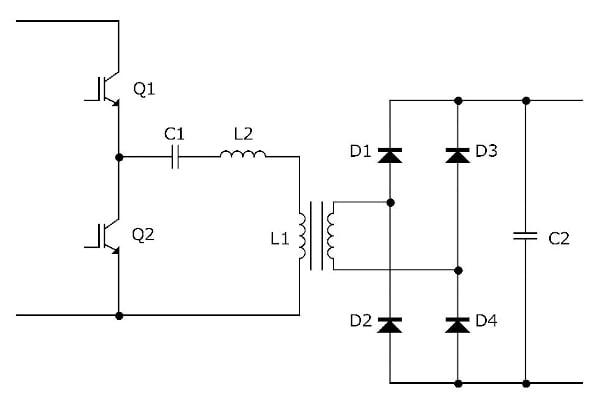 Principle diagram of an LLC resonant converter