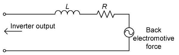 Motor equivalent circuit (for 1 phase)