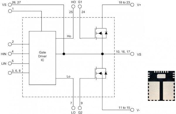 Low voltage Nano IPM in a 7 x 8 mm PQFN package (40 V or 80 A half bridge IPM & 100 V 30 A IPM)