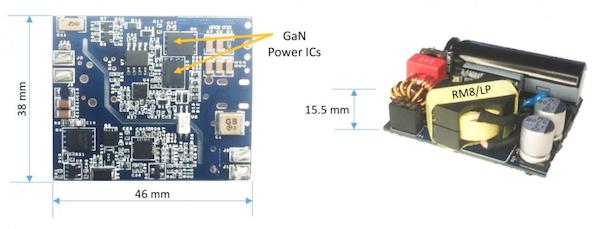 65W USB-PD ACF adapter using GaN Power ICs.