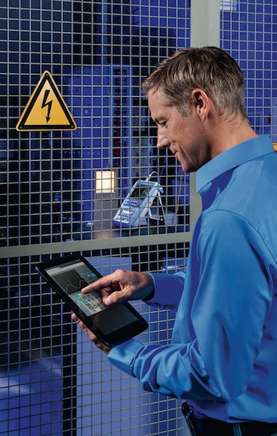 In especially hazardous test situations, the R&SScope Rider can be remotely operated via WLAN.