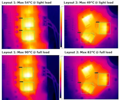 Light load and full load thermal images