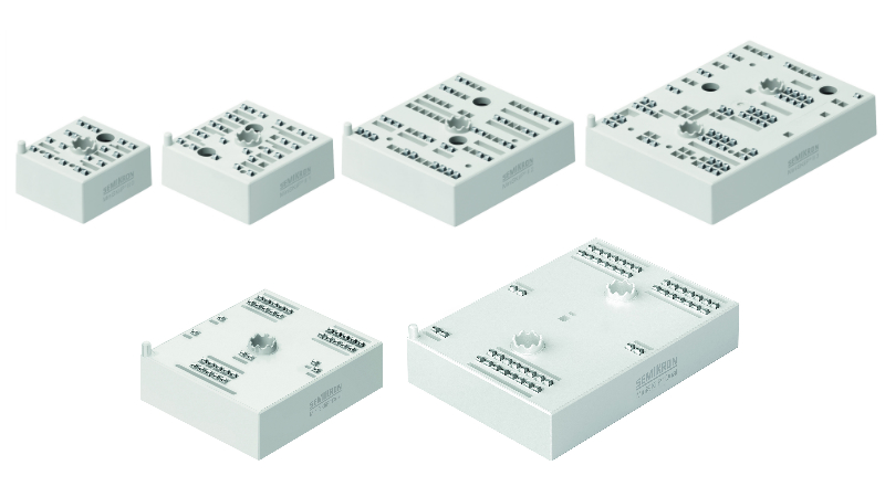 MiniSKiiP Package Family. One concept from 4 to 400A nominal current.