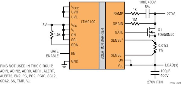 LTM9100 Isolated Switch Controller with Telemetry
