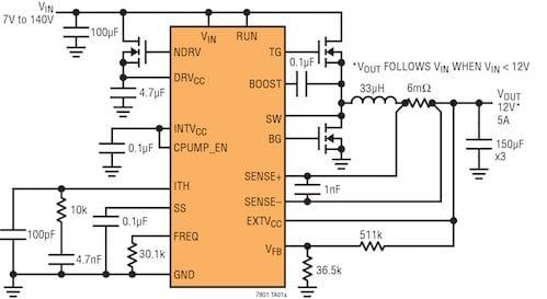 LTC7801 High Voltage Step Down DC/DC Controller