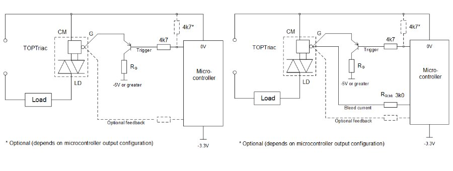 DC and pulse trigger using 3.3V microcontroller