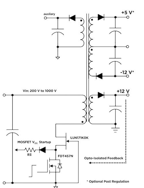 A multi-output Flyback converter using the UJN171K0K