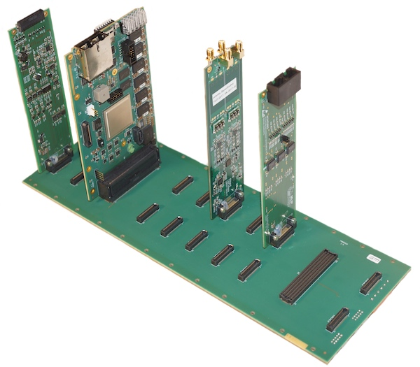 FPGA card with backplane and several extension cards