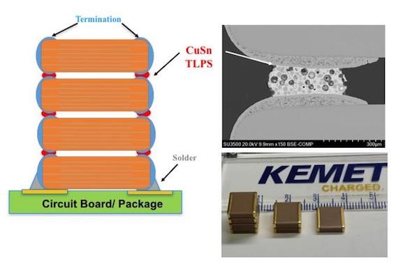 KEMET's Leadless Stack using KONNEKT technology.