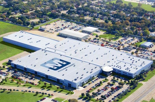 Mouser's global headquarters and distribution center in Mansfield, Texas.