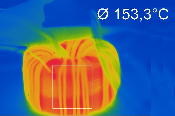 IR image of the LCP sample during the test.