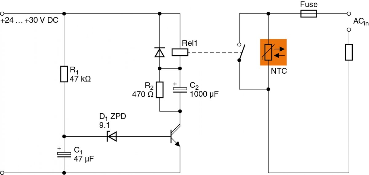 Time-controlled bypass circuit for ICLs.