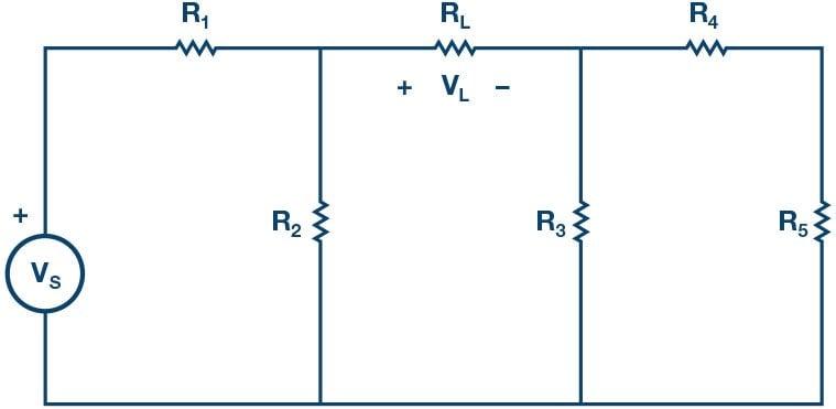 Thevenin equivalents circuit of figure 1