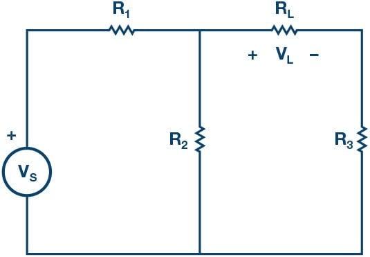 Circuit for Maximum Power Theorem.