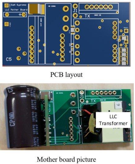 Designed GaN-based LLC Resonant Converter Prototype.
