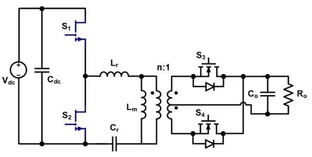 GaN-based half-bridge LLC converter.