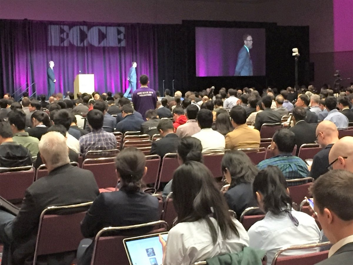 A well-attended plenary opens the 2018 ECCE.