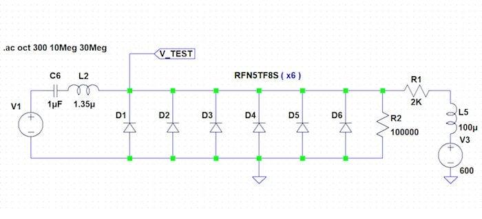 Diode Capacitance Simulation Circuit