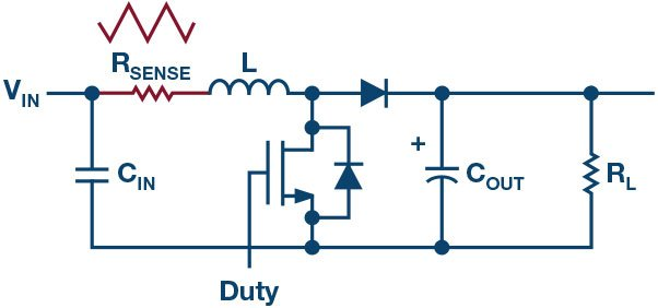 Figure 6: Boost converter with high-side RSENSE.