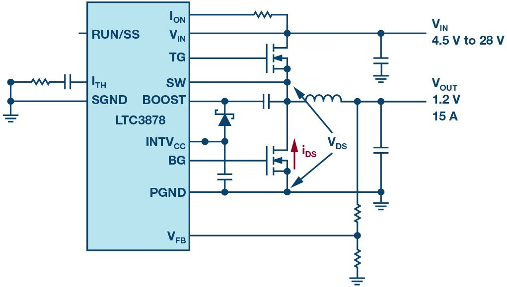 Figure 13: MOSFET RDS(ON) current sensing.