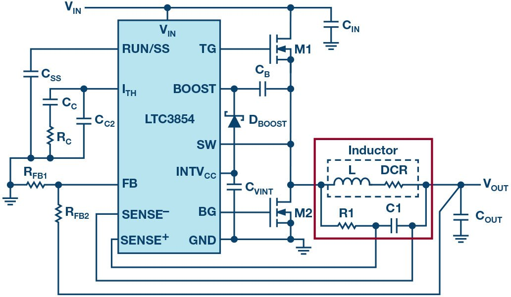 Figure 14: Inductor DCR current sensing.