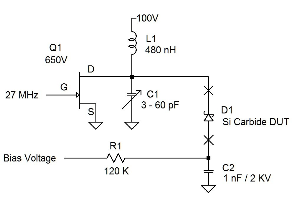 Figure 2: Varactor Effect Test Circuit.