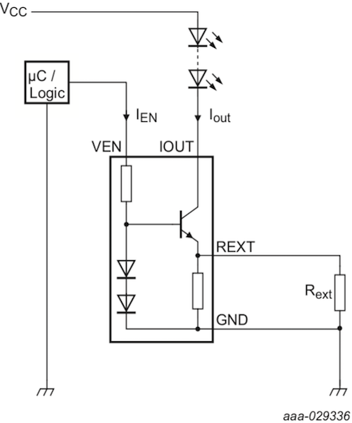 Low- and high-side constant current LED driver topologies.