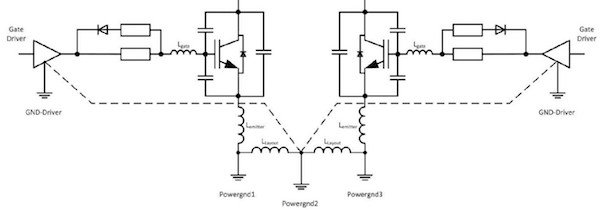 Figure 3: Low-side devices sharing common grounds