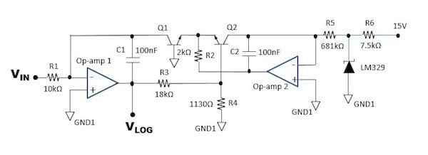 Figure 2: Logarithmic Generator Circuit