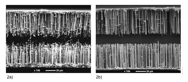 Figure 2: Cross-section of etched anode foils