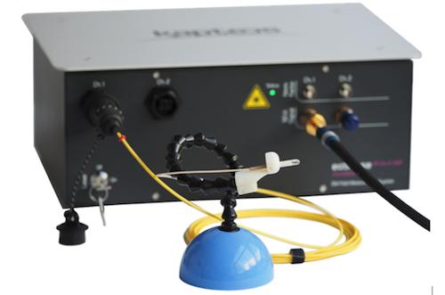 Figure 1: Electro-optic probe and associated optoelectronic converter.