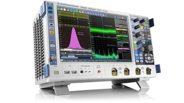 Figure 3: RTO2000 oscilloscope. Key facts: Bandwidth 600 MHz to 6 GHz; max. sample rate: 20 Gsample/s; max. memory depth: 2 Gsample; up to 16-bit vertical resolution; MSO: 16 digital channels.