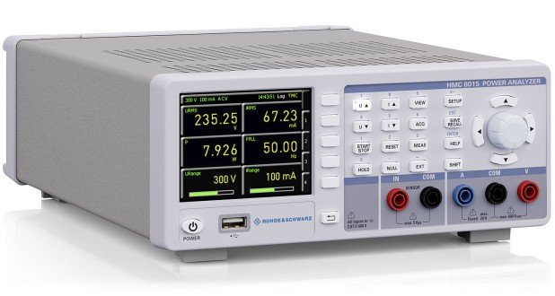 HMC8015 Power Analyzer. Key Facts: Power measurement range: 50 μW to 12 kW, analog bandwidth: DC to 100 kHz; Sampling rate: 500 ksample/s; 16 bit resolution for current and voltage; basic accuracy: 0.05 %.
