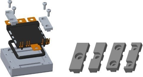Figure 2: DCM™ module incl. ShowerPower®3D baseplate screwed to bathtub.