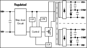 Figure 9: Block diagram of the DC/DC converter section