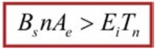 Figure 8: The Single Transformer Design Equation. With the secondary turns count set to one, there is no design freedom for the transformer core area.