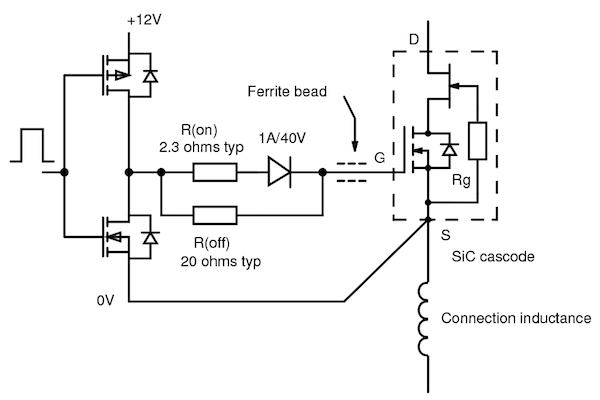 Figure 3: Typical SiC cascode gate drive