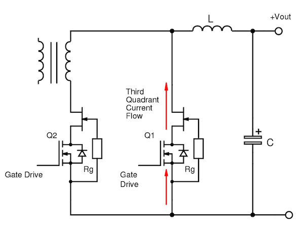Figure 6: SiC cascodes in synchronous rectification