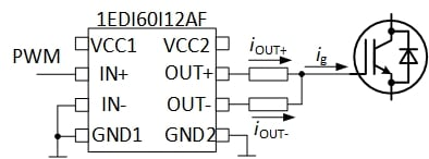 Figure 1: Conventional gate drive using a single IC