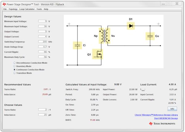 Figure 1: Topology window of Power Stage Designer