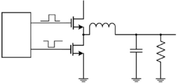 Figure 1: Typical phase-leg or half-bridge configuration