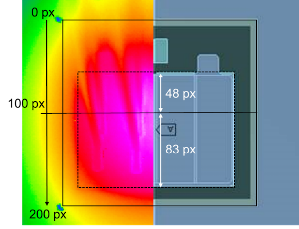 Figure 1 Fewer Hot Spots: The excellent thermal and electrical conductivities of the Cu foil and the Ag sintered layer ensure a lower temperature distribution on the top side of the chip, as this comparison of heat distribution with and without DTS shows
