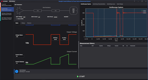Figure 3: Software GUI and displayed results